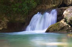 Dunn's River Falls is a famous waterfall near Ocho Rios, Jamaica